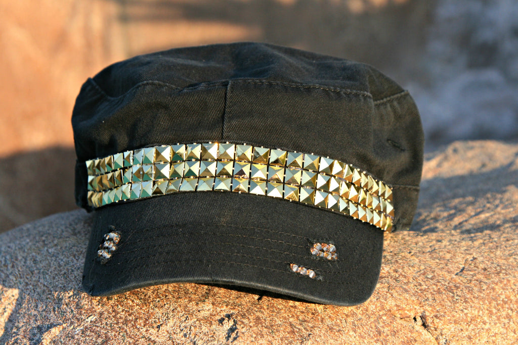 Geometric and Crystal Military Hat