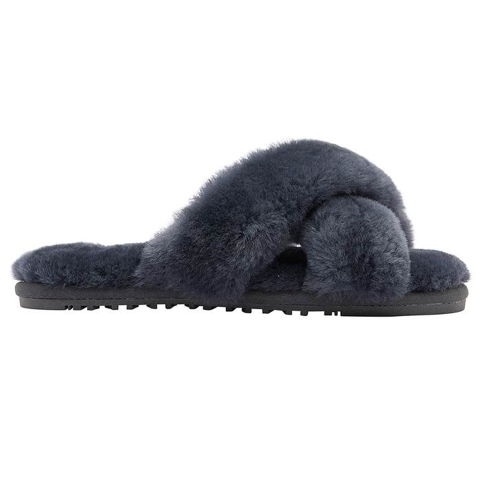 Cozette Sheepskin Slipper in Grey - Glitzy Bella