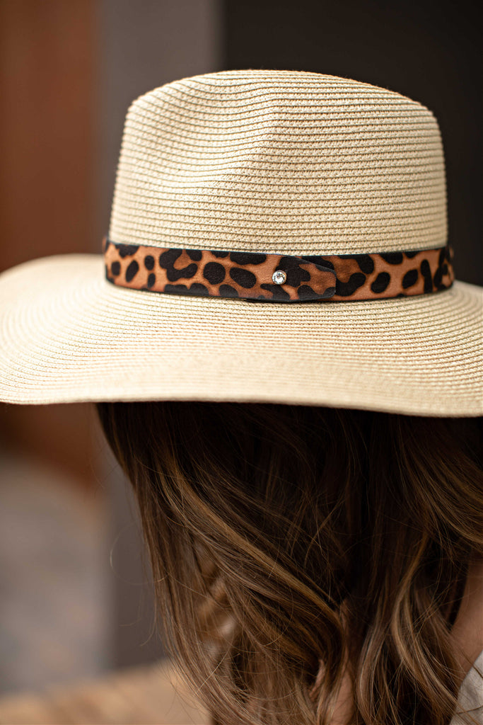 The Parker Leopard Banded Panama Hat in 3 Colors