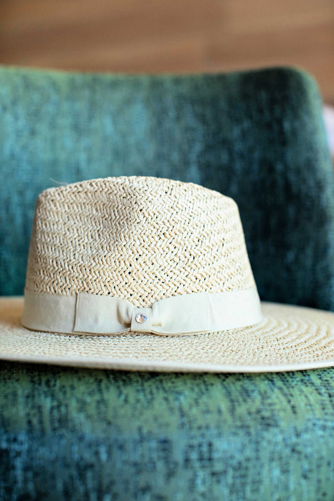 The Palm Desert Straw Panama Hat in Light Natural