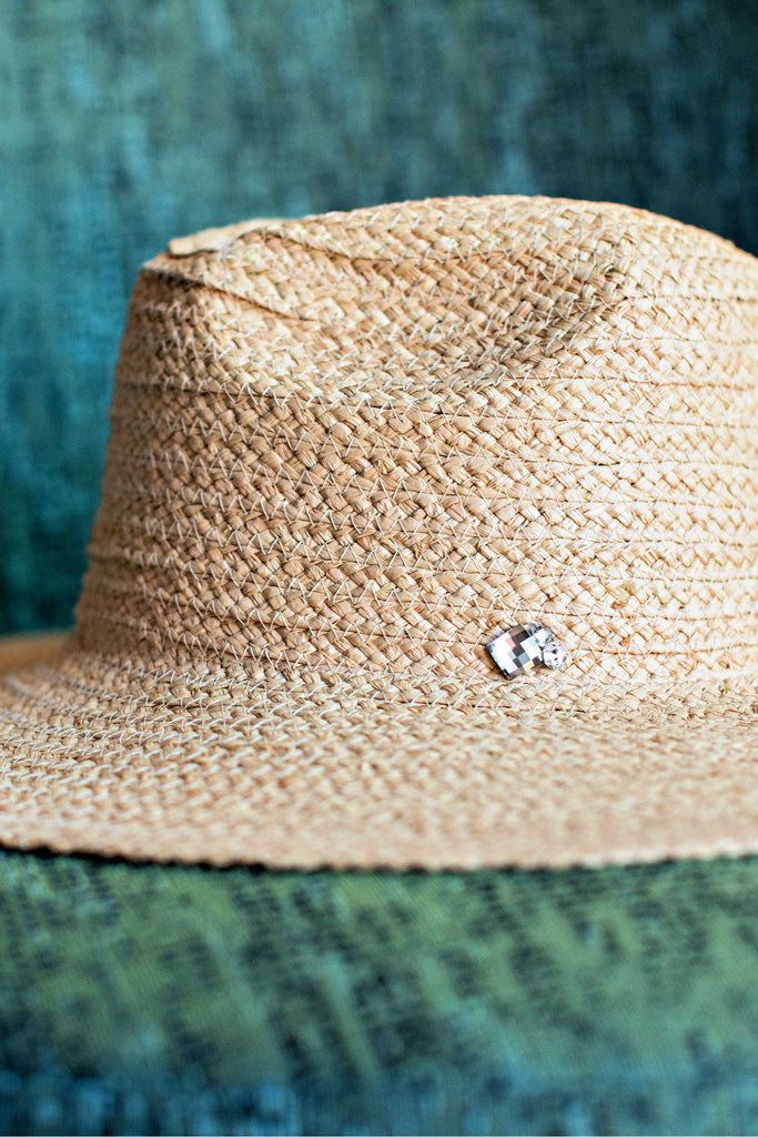 Pre Order- The Island Breeze Panama in Natural or Light Straw