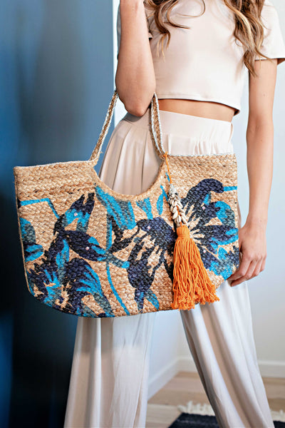 """The Getaway"" Woven Beach Tote"