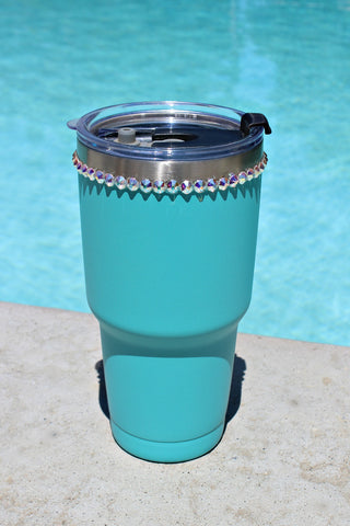 NEW COLOR! Crystallized Turquoise 30 oz. Tru Flask Rambler