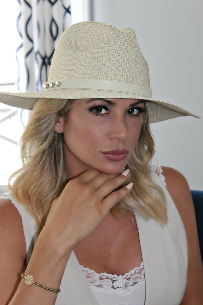 "The Alexis ""Everyday"" Straw Panama Hat in 3 Colors - Glitzy Bella"