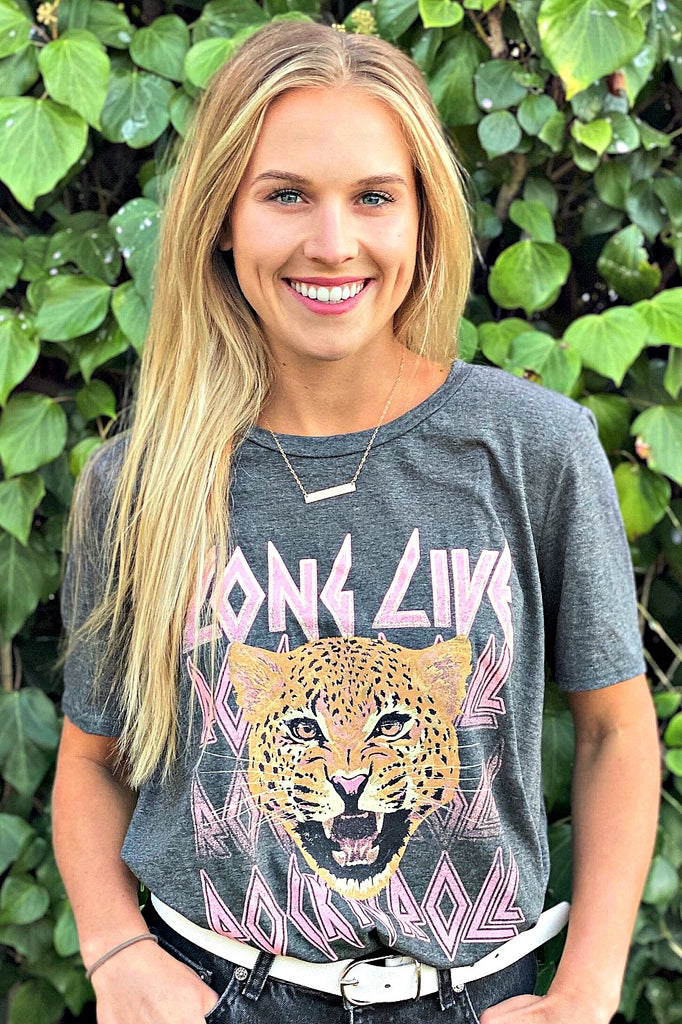 "IN STOCK!! ""Long Live Rock N' Roll"" Graphic Tee - Glitzy Bella"