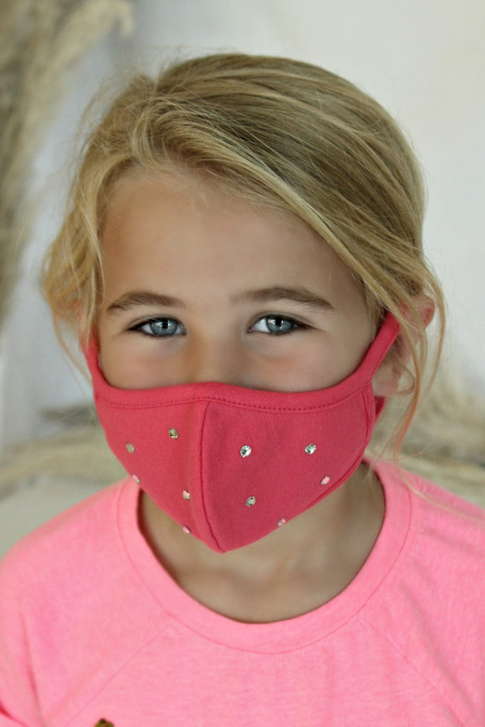 """Make it Fashion"" Kids Face Mask in 2 Colors - Glitzy Bella"