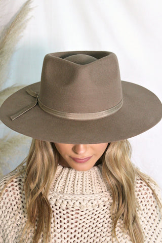NEW!! The Kennedy Taupe Wool Panama