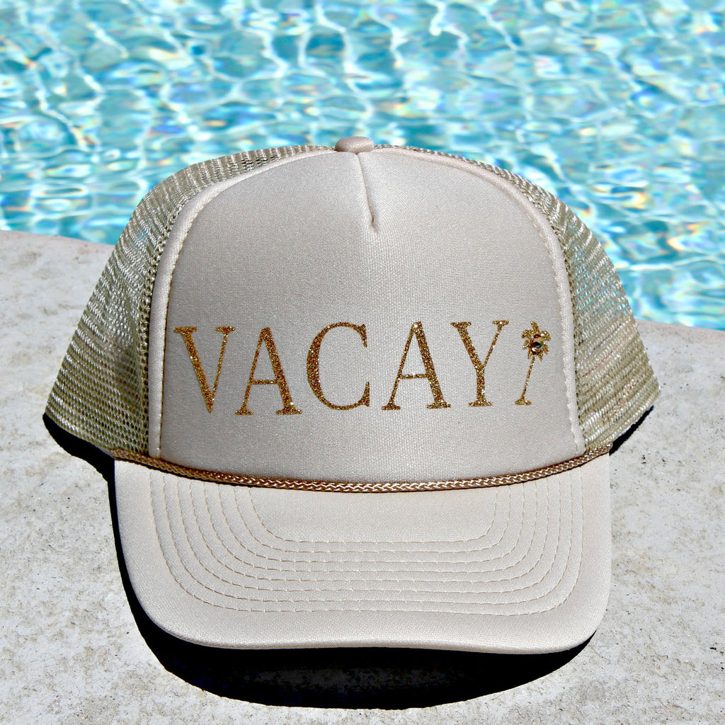 Vacay Glitter and Crystal Hat