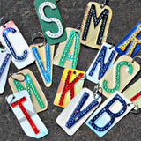 Authentic License Plate Initial Key Chains