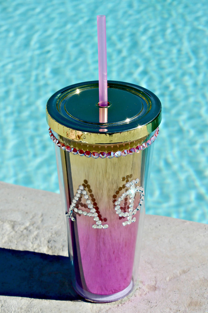 Metallic Ombre Crystallized Tumbler