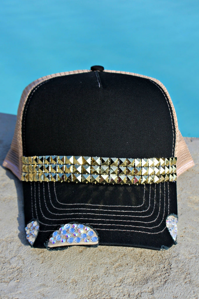 Crystal and Geometric Trucker Hat