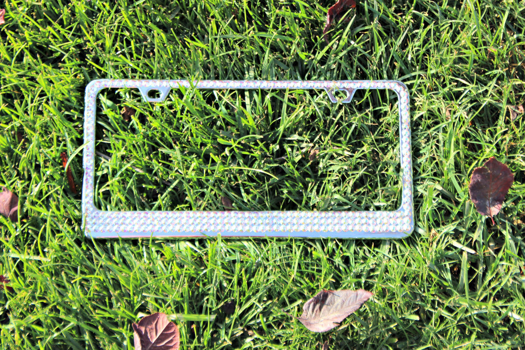 3 Row Swarovski Crystallized License Plate Frame