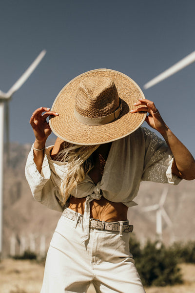 The Palm Desert Straw Panama Hat in Natural