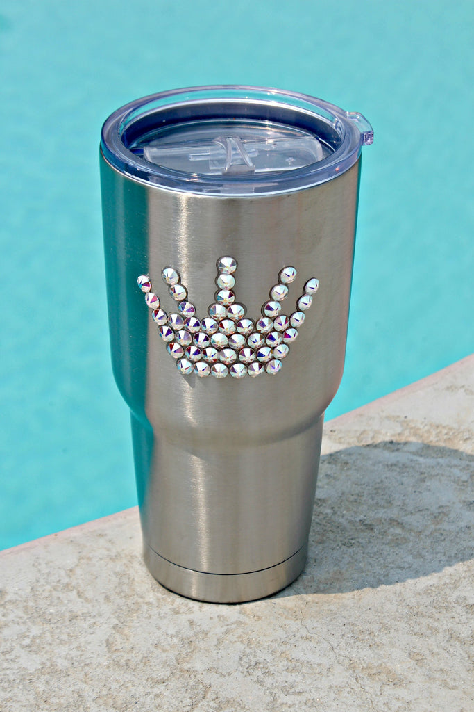 Crystallized Silver 30 oz. Tru Flask Rambler