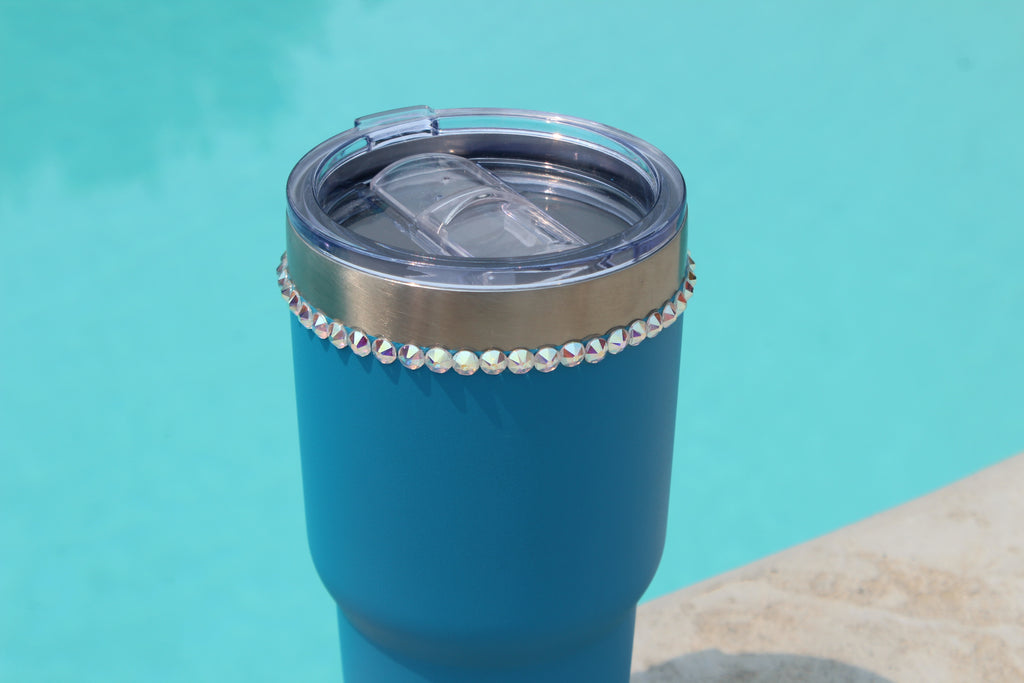 Crystallized Blue 30 oz. Tru Flask Rambler