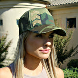 Chevron Arrow and Camouflage Hat - Glitzy Bella