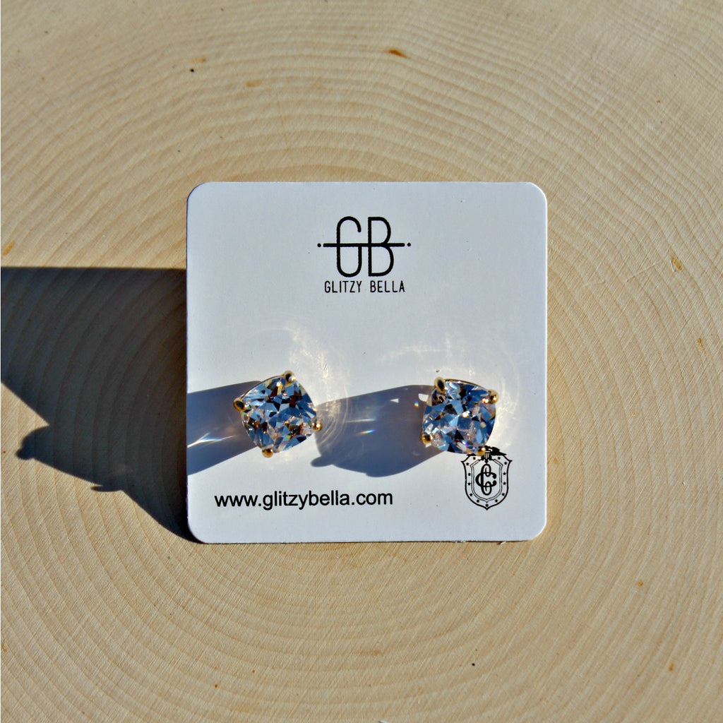 Bright Idea Swarovski Stud Earrings - Glitzy Bella