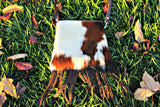 NFR Cowhide & Fringe Purse
