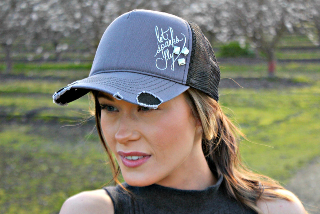 Let Sparks Fly Crystal Ball Cap - Glitzy Bella