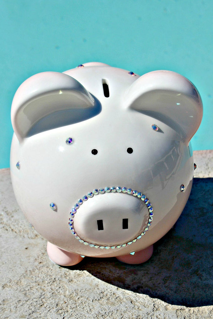 Polka Dot Ombre Piggy Bank - Glitzy Bella