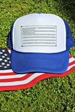 American Flag Glitter and Crystal Hat
