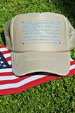 American Flag Glitter and Crystal Hat - Glitzy Bella