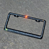 Black Matte Swarovski Crystallized License Plate Frame