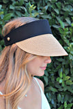 Crystallized Straw Custom Fit Visor - Glitzy Bella