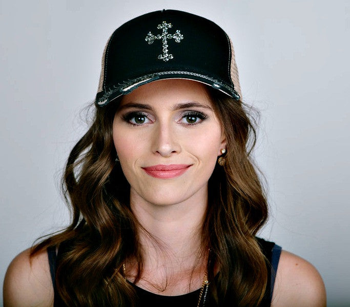 Swarovski Cross Trucker Hat