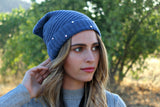 Crystallized Slouchy Knit Beanie in 4 Colors - Glitzy Bella