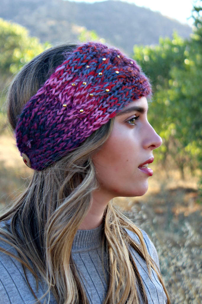 BEST SELLING!  Cable Knit Crystallized Head Wrap in 5 Colors