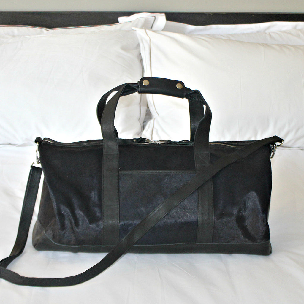 "The ""Lauren"" Cowhide Duffel Bag"