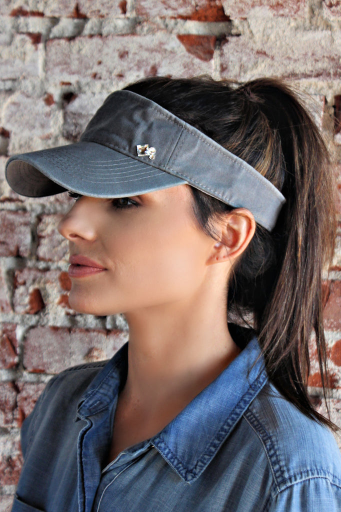 NEW!! Crystallized Washed Cotton Visor in 4 Colors
