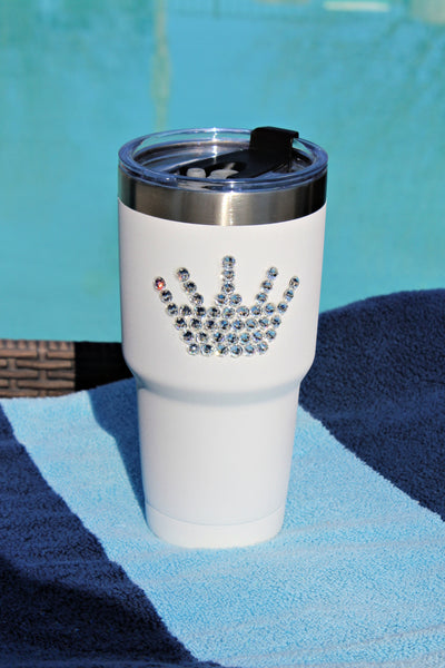 Crystallized White 30 oz. Tru Flask Rambler