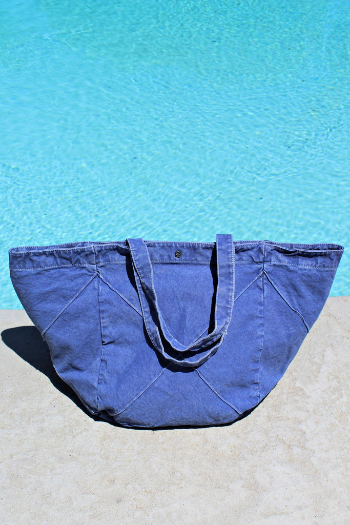 """It's a Staple"" Denim Travel & Beach Bag"