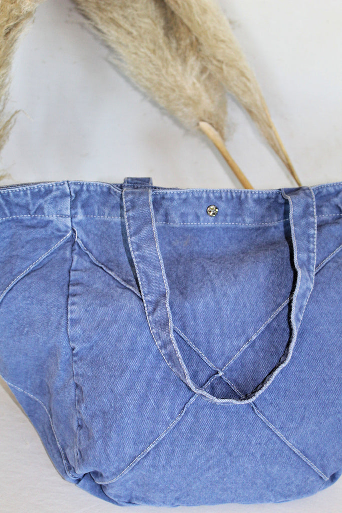 """It's a Staple"" Denim Travel & Beach Bag - Glitzy Bella"