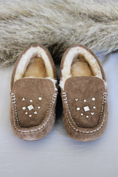 IN STOCK! AS SEEN ON MICHELLE from VB! Stella Suede & Sheepskin Moccasin
