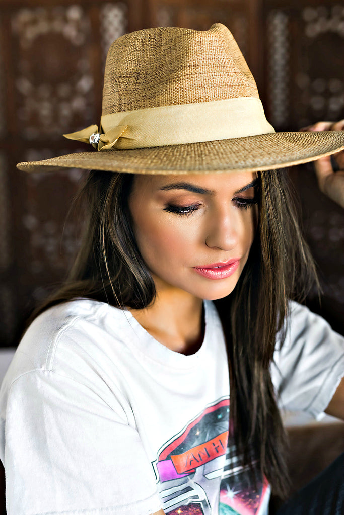 Janessa Panama Hat in Natural