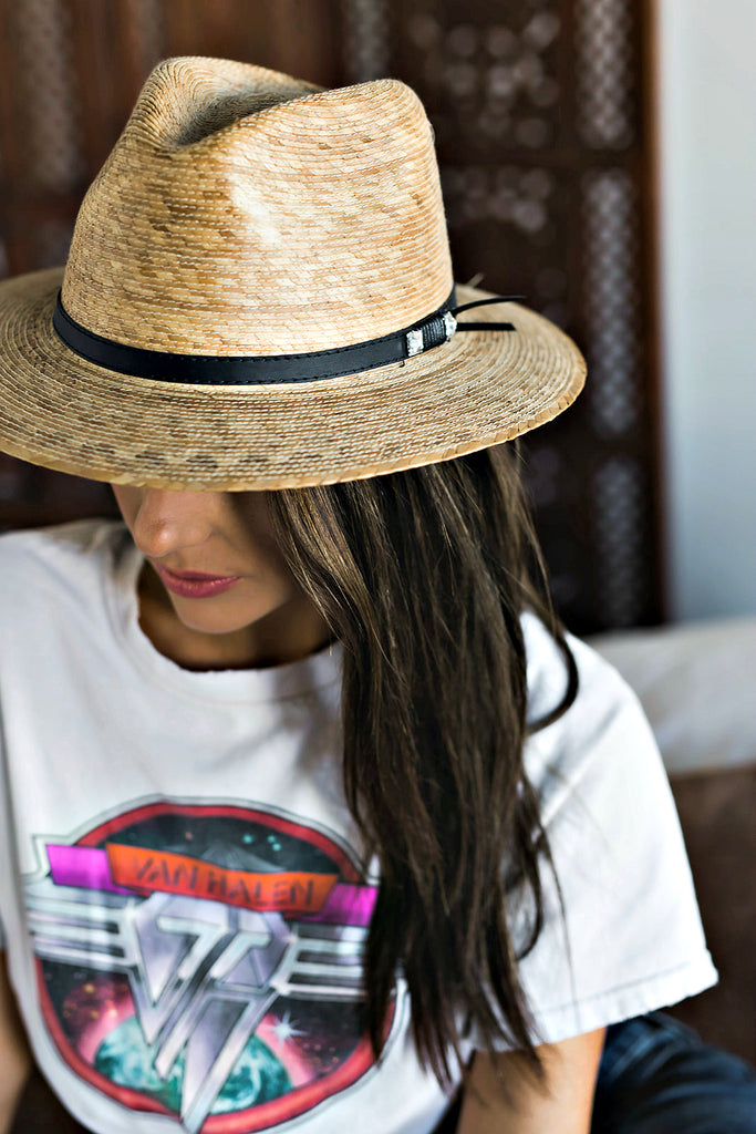 BEST SELLER! The Palm Crystallized Panama Hat - Glitzy Bella