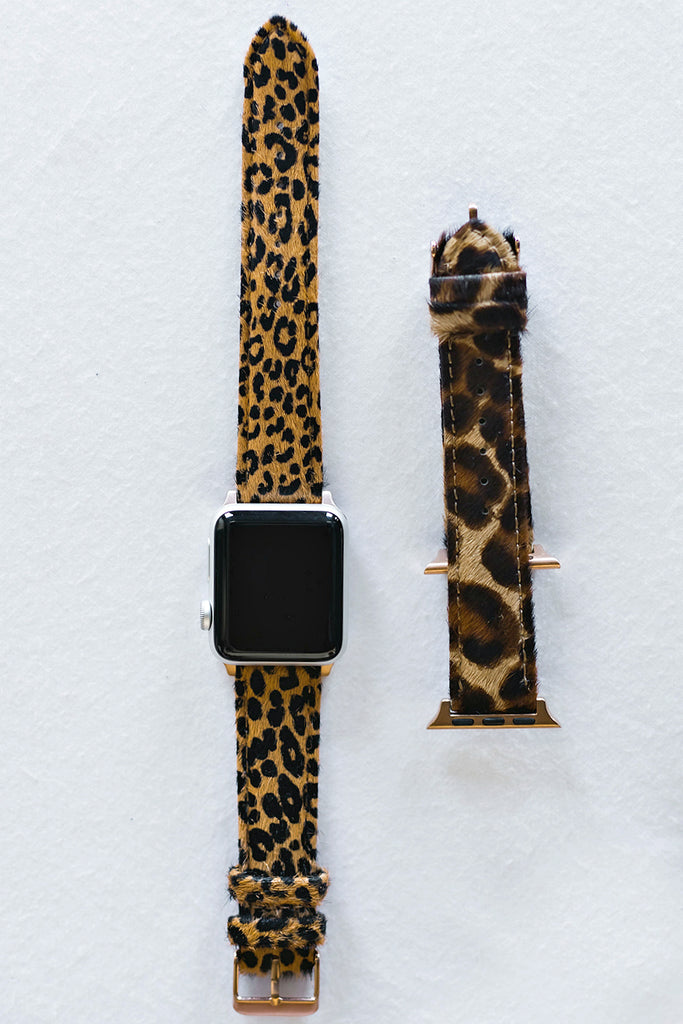NEW!! Faux Cheetah or Leopard Print Apple Watch Band - Glitzy Bella
