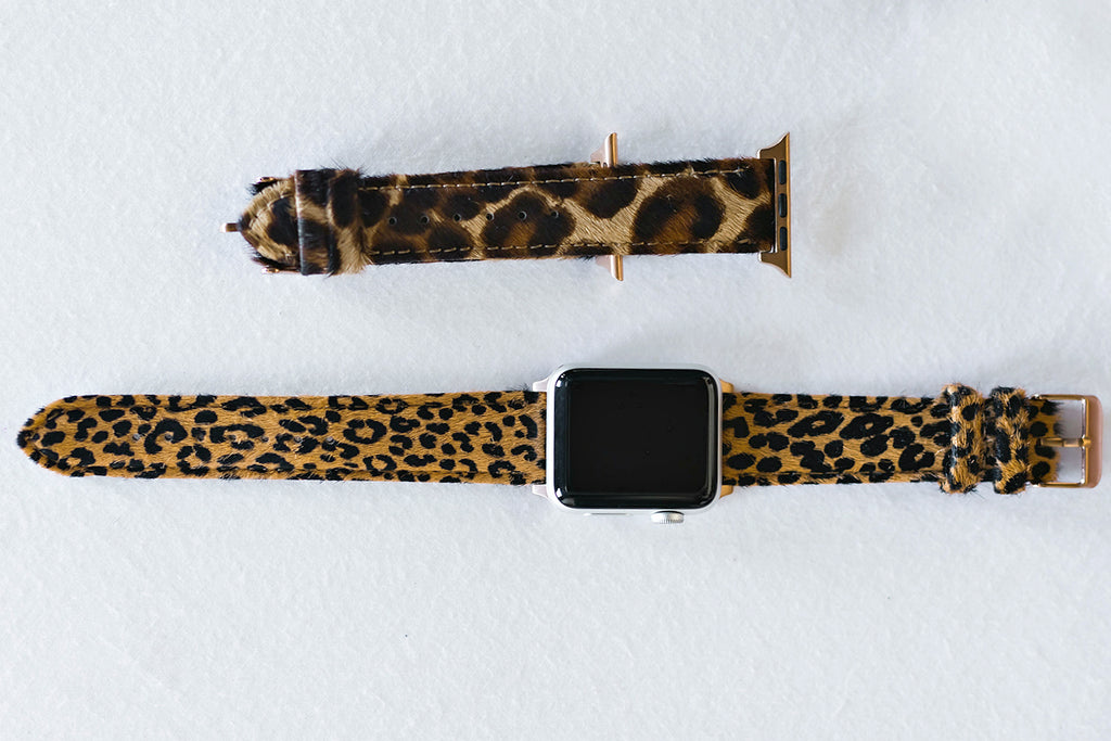 NEW!! Faux Cheetah or Leopard Print Apple Watch Strap