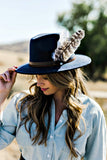 The Kate Felted Wool Panama in 3 Colors w/ Removable Feathers - Glitzy Bella
