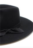 The Sierra Wool Panama in Black w/ Removable Feathers - Pre Order