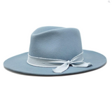The Sierra Wool Panama in Powder Blue - Glitzy Bella