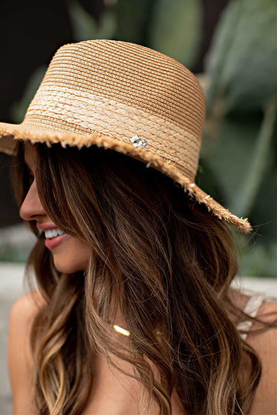 NEW!! Newport Frayed Straw Panama Hat