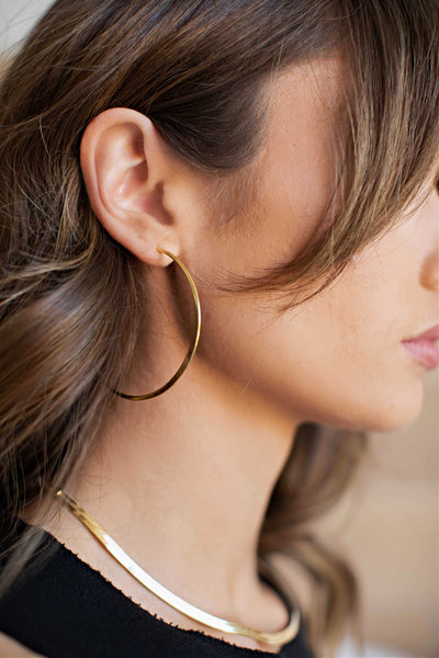 14K Gold Dipped Hoop Earrings