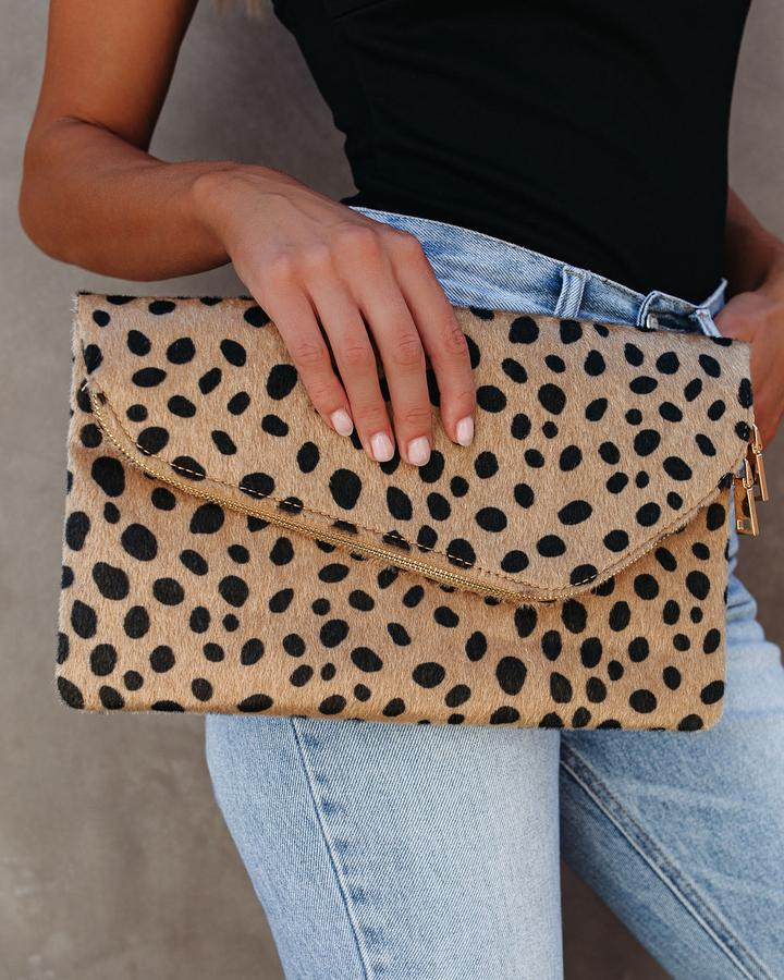 Chic Faux Fur Clutch