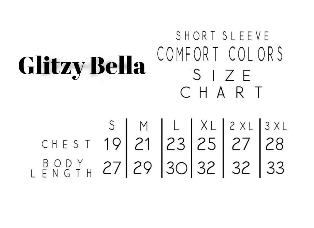 "GLITZY BELLA ORIGINAL: ""Designer Inspired"" Comfort Colors Tee in Denim Blue - Glitzy Bella"