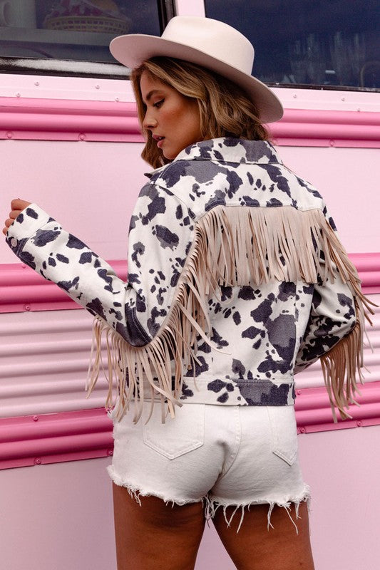 PRE ORDER! - Cowgirl Fringe Jacket in 3 colors