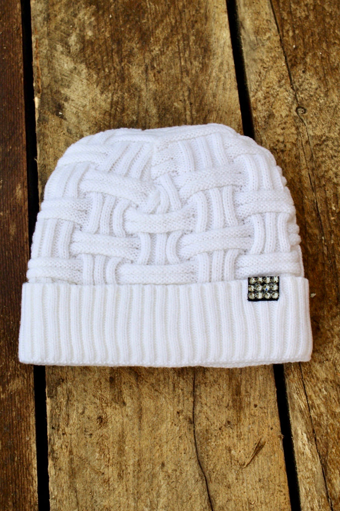 Crystal Cable Knit Beanie in 6 Colors